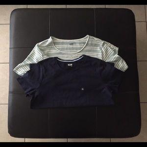 2 Women's Basic Editions Shirts Size XL